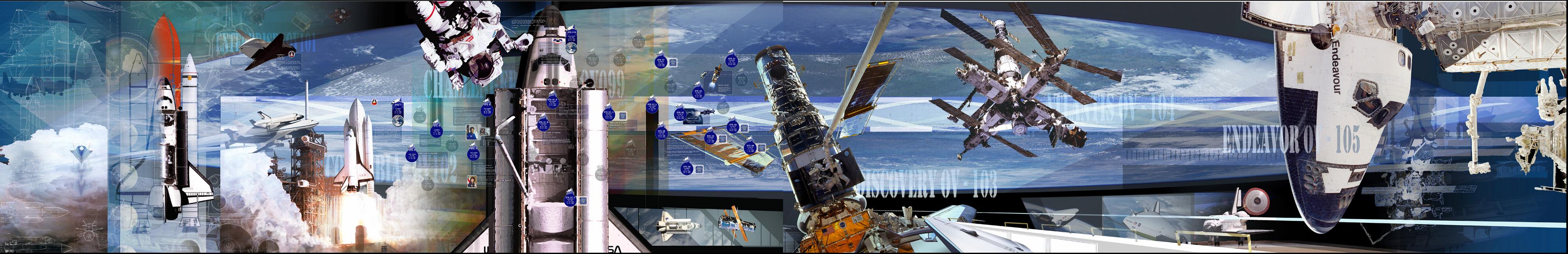 KSC History of the Shuttle Mural