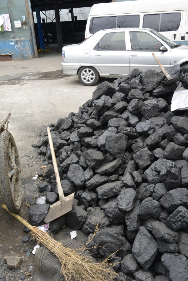 and a pile of coal...