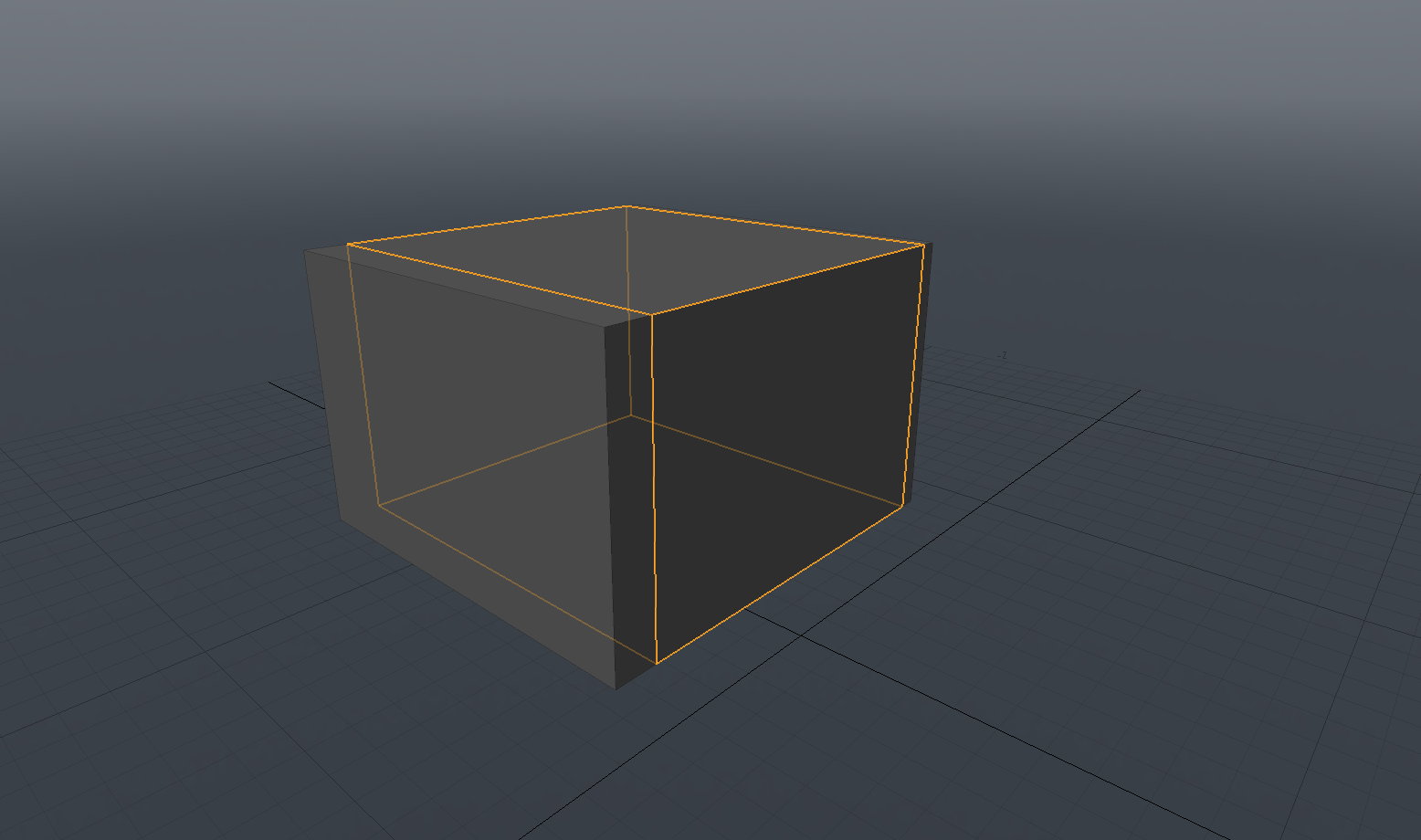 Cube with control points